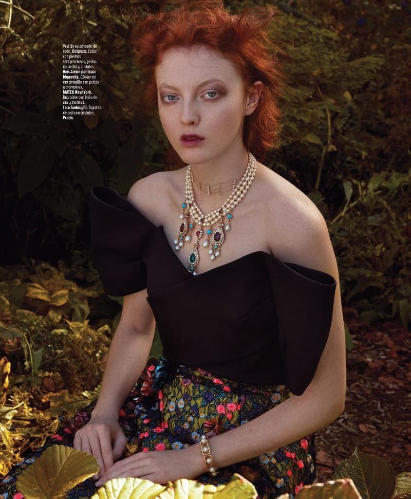 Laura Hanson Sims Models Ladylike Fashions for Marie Claire Mexico