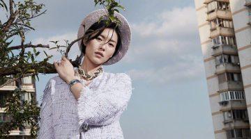 Liu Wen Models Elegant Ensembles for ELLE China