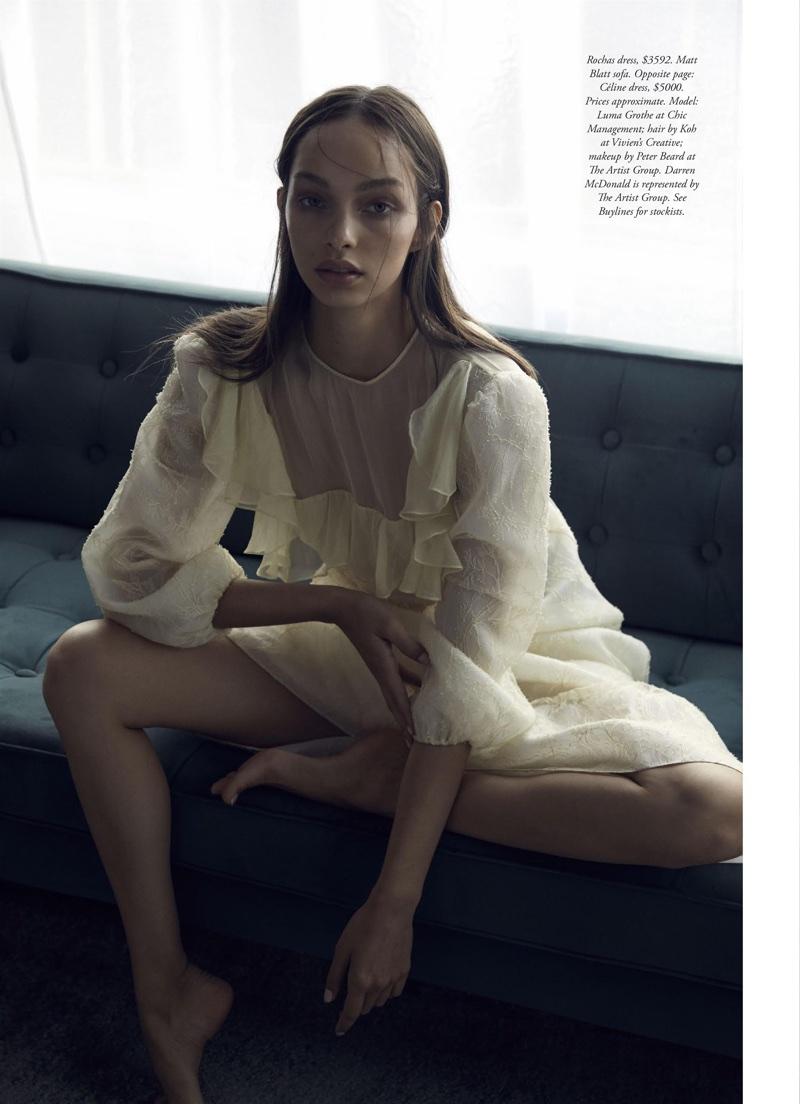 Luma Grothe Poses in Lingerie Inspired Styles for Harper's Bazaar Australia