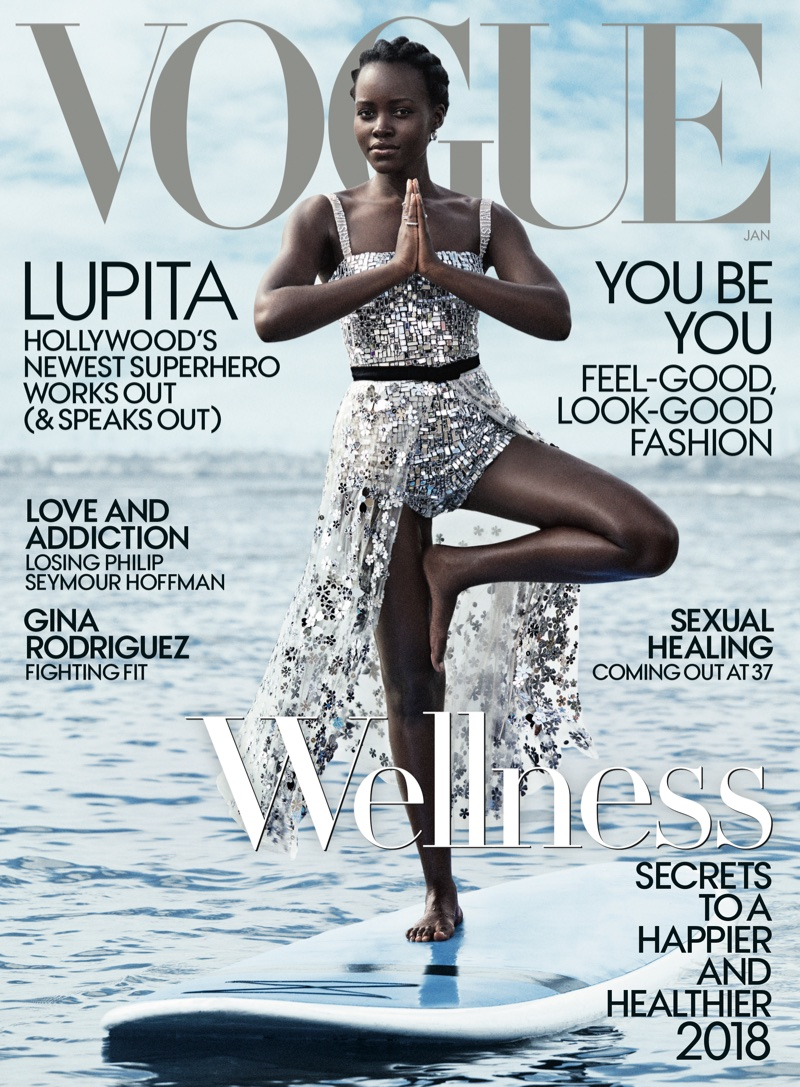 Lupita Nyong'o on Vogue US January 2018 Cover