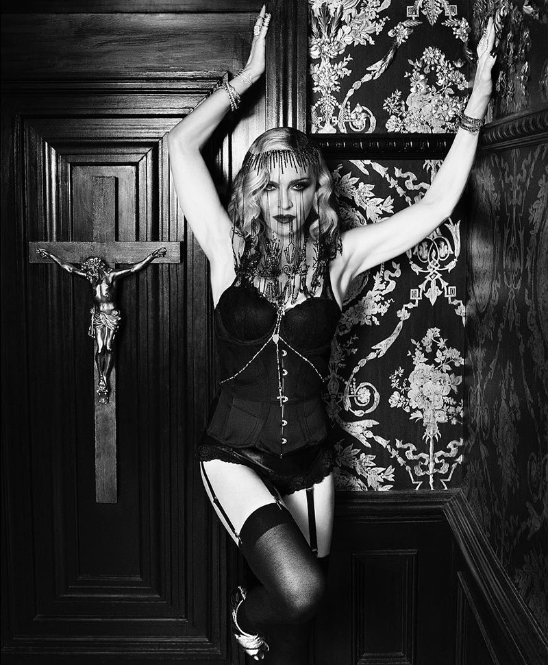 Madonna poses in lingerie look for MDNA Skin campaign