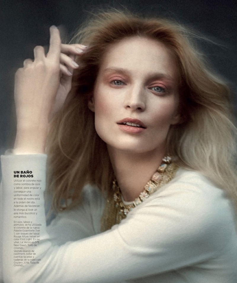 Melissa Tammerijn Enchants in Chanel Beauty Looks for Harper's Bazaar Spain