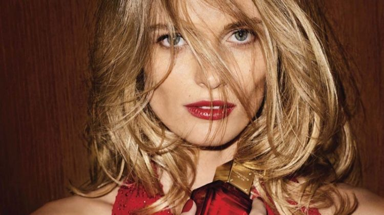 Edita Vilkeviciute stars in Michael Kors Sexy Ruby fragrance campaign