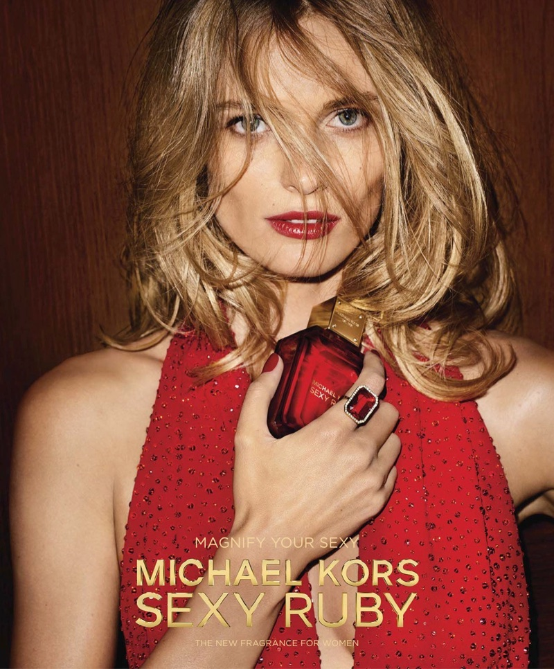 Edita Vilkeviciute stars in Michael Kors Sexy Ruby fragrance campaign