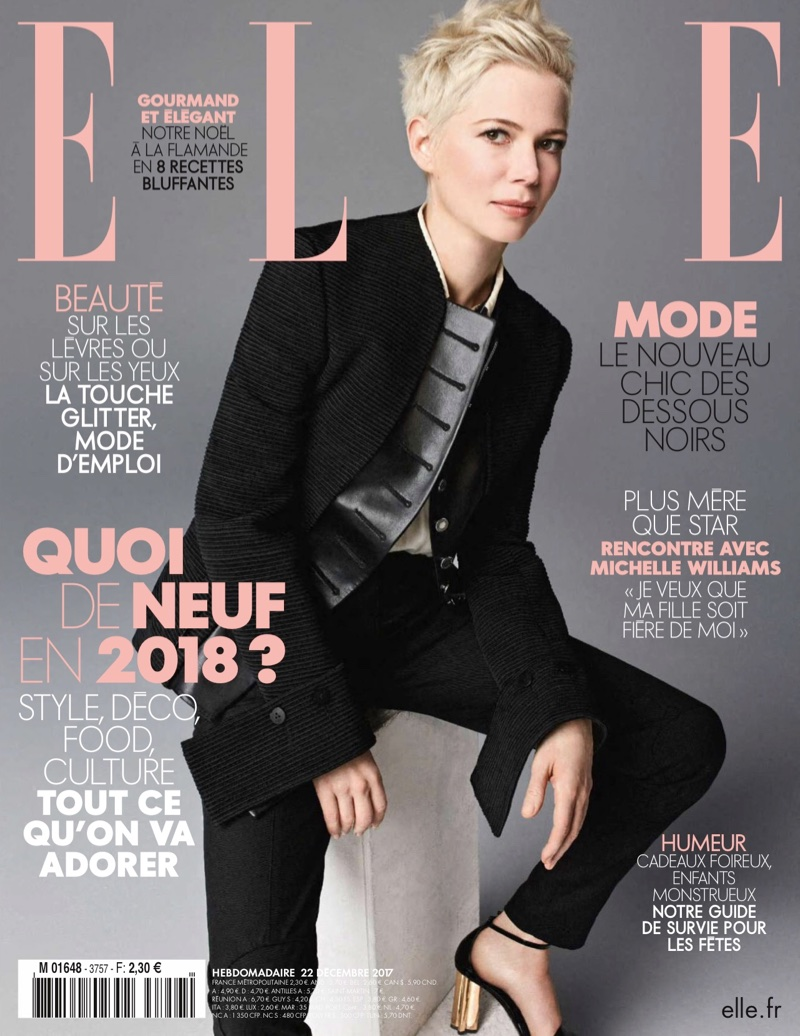 Michelle Williams on ELLE France December 22nd, 2017 Cover