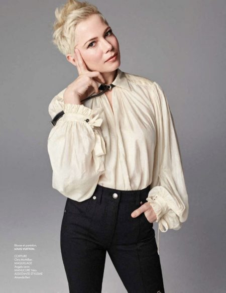 Michelle Williams Rocks Louis Vuitton in ELLE France