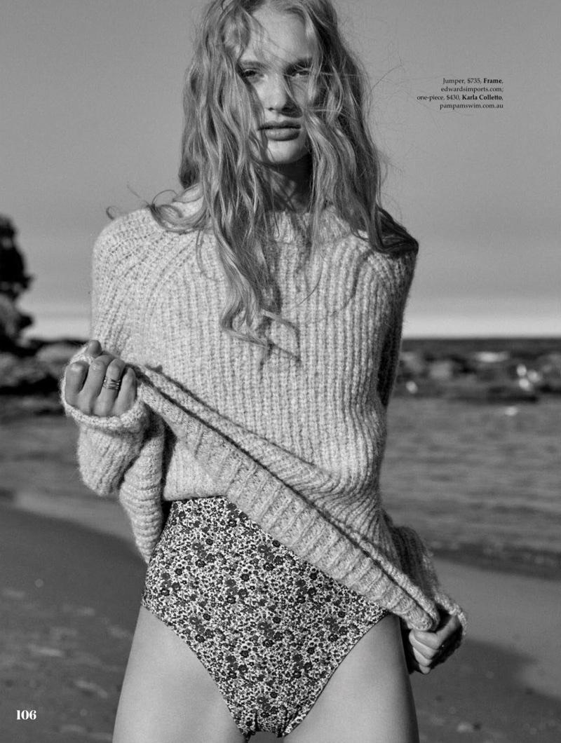 Nana Skovgaard Wears Beach-Ready Fashions for ELLE Australia