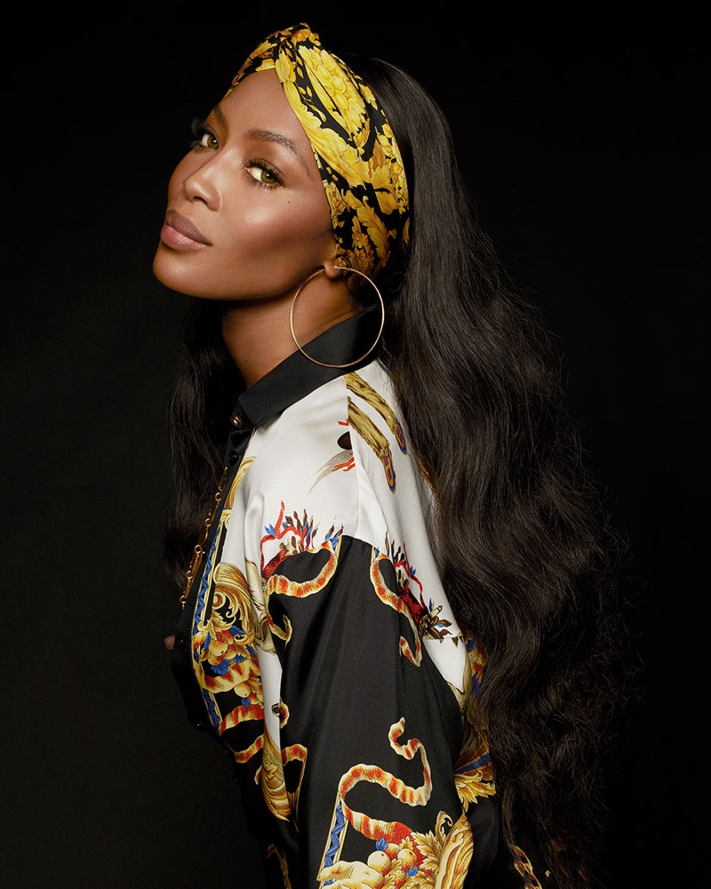 Naomi Campbell Models Versace's Statement Prints for S Moda