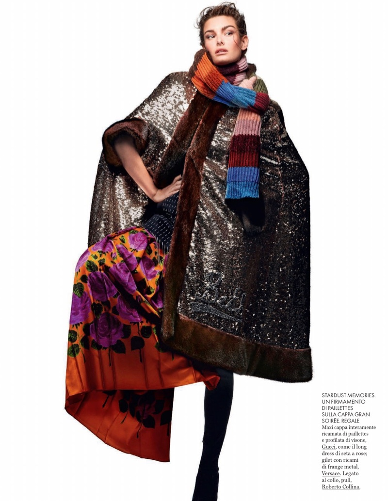 Ophelie Guillermand Models Oversized Styles for ELLE Italy