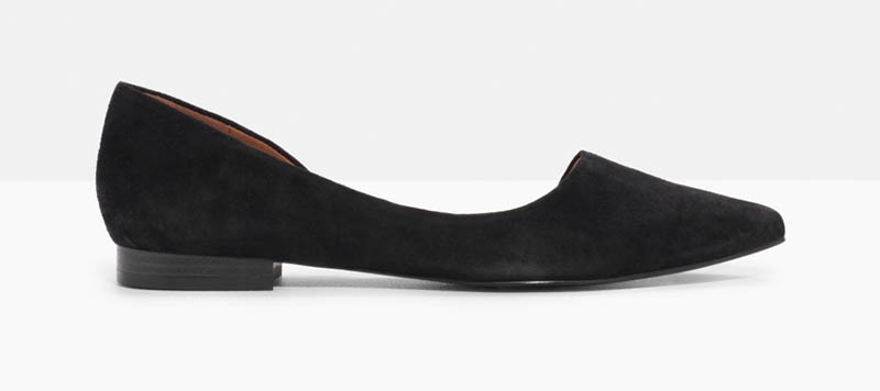 & Other Stories Asymmetric Suede Ballerina Flat $60 (previously $85)