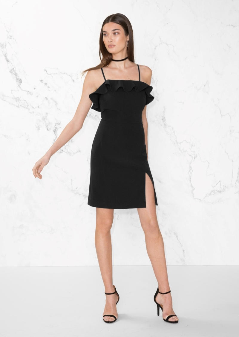 & Other Stories Frill Mini Dress $48 (previously $95)