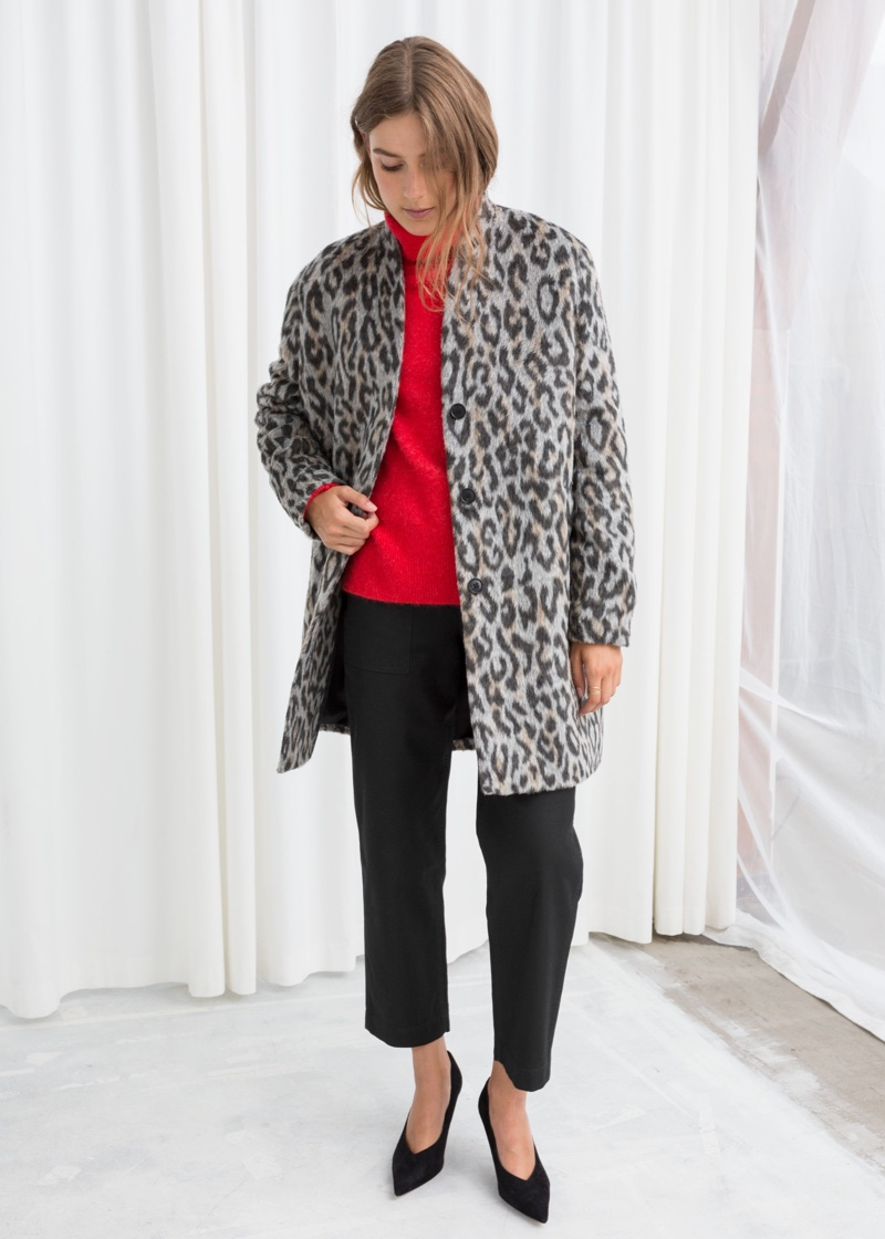 & Other Stories Leopard Boxy Coat $153 (previously $219)