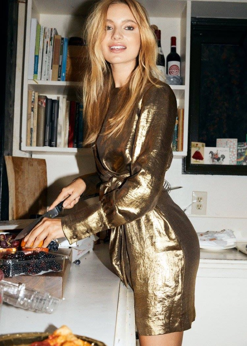 & Other Stories Gold Dress