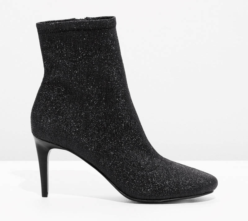 & Other Stories Glitter Sock Boots $88 (previously $175)