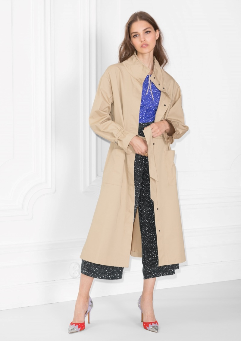 & Other Stories Stand-Up Collar Trench Coat $137 (previously $195)