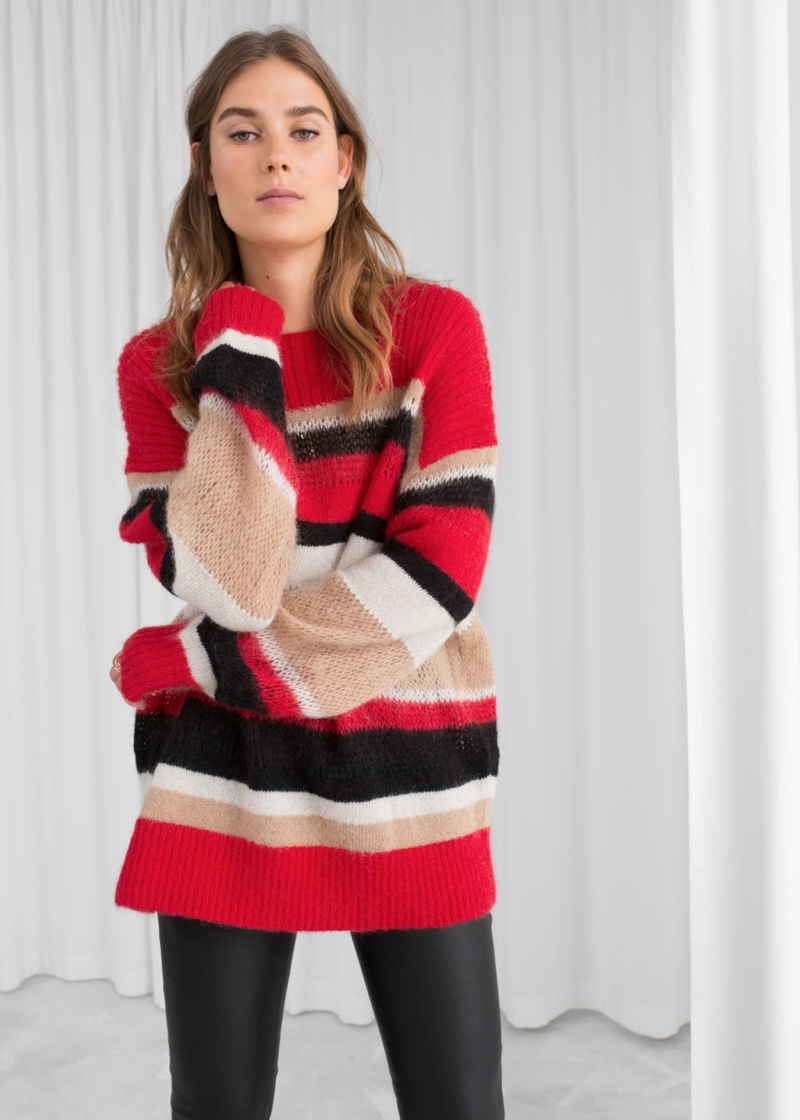 & Other Stories Wool Blend Striped Sweater $63 (previously $89)