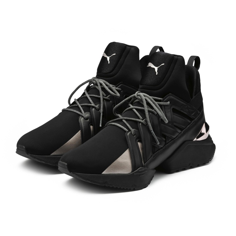 PUMA Muse Echo Sneakers in Black $130