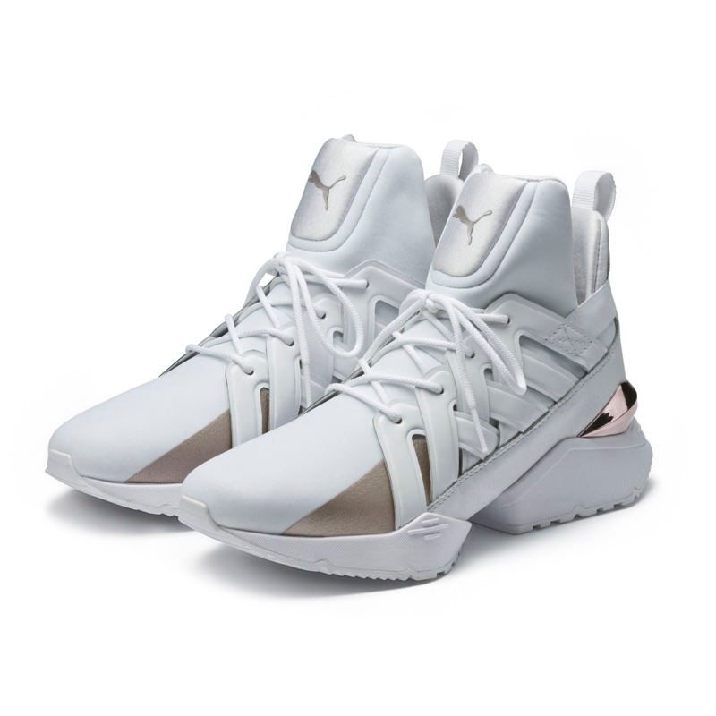 PUMA Muse Echo Sneakers in White $130