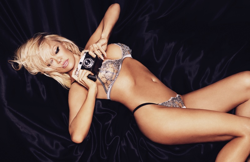 Pamela Anderson stars in  Pamela Loves Coco de Mer lingerie campaign. Photo: Rankin/The Full Service for Coco de Mer