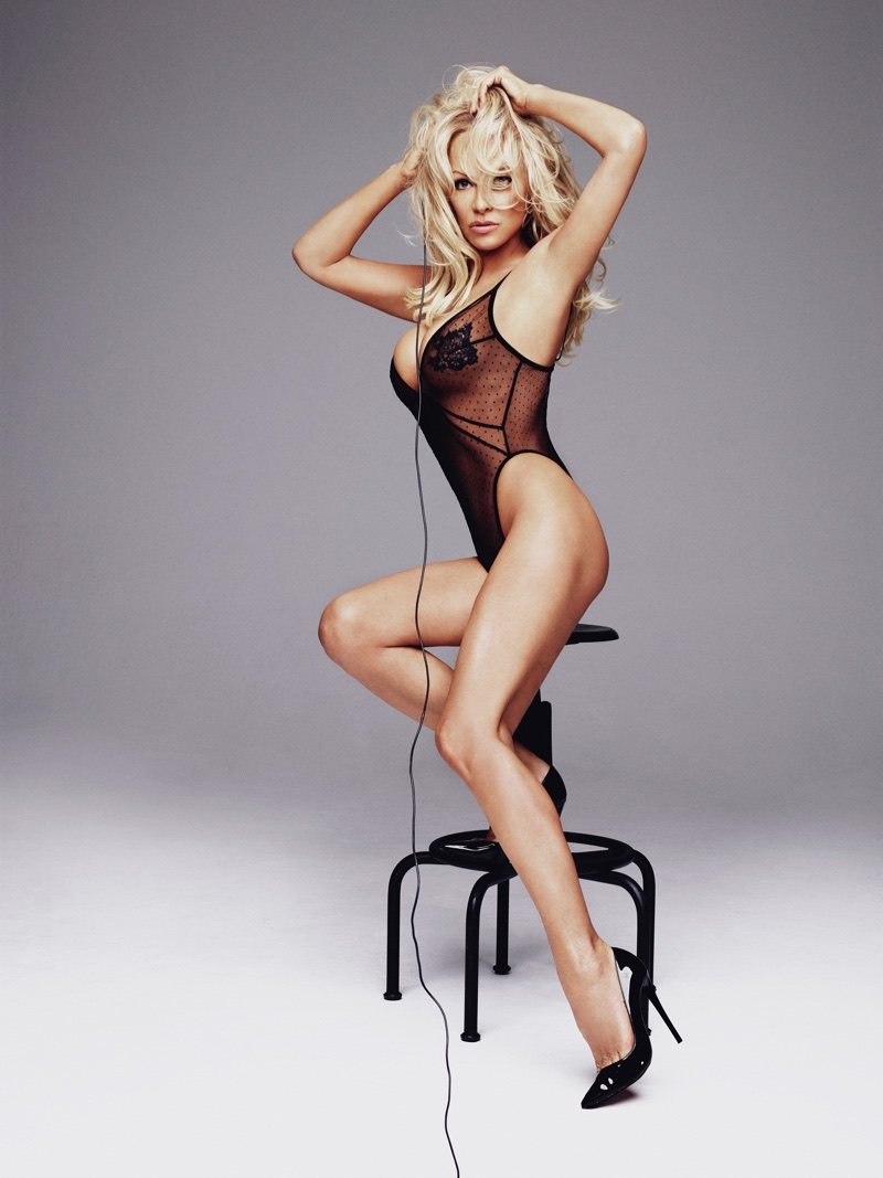 Actress Pamela Anderson channels pin-up vibes in Pamela Loves Coco de Mer collection. Photo: Rankin/The Full Service for Coco de Mer
