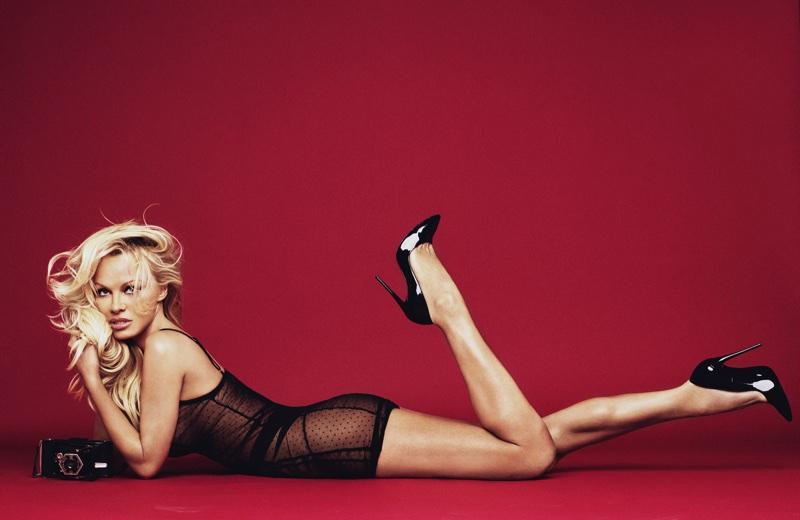 Pamela Anderson wears sheer bodysuit from Pamela Loves Coco de Mer collection. Photo: Rankin/The Full Service for Coco de Mer