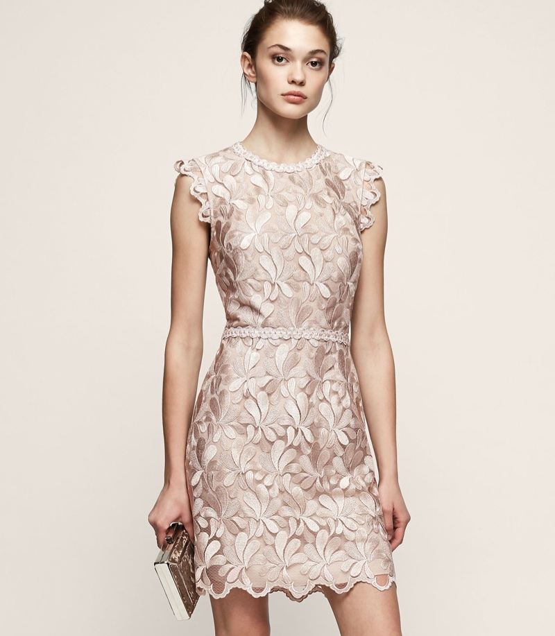 REISS Sami Lace Open-Back Dress $290 (previously $425)