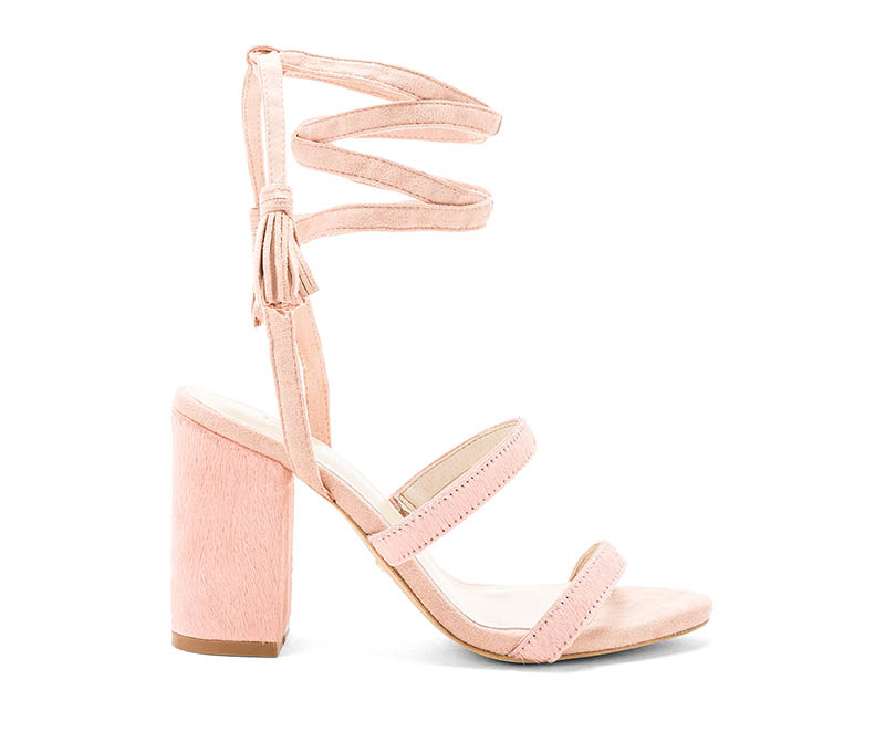 RAYE x Stone_Cold_Fox Henna Calf Hair Sandal in Blush $178