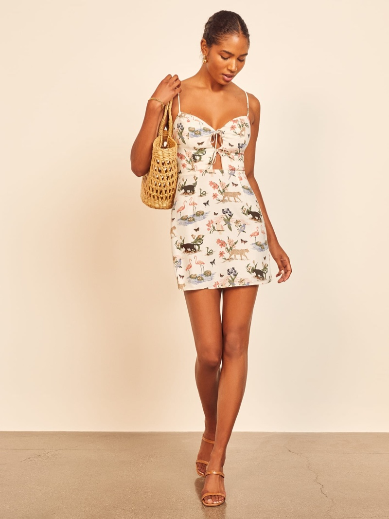 Reformation Bascom Dress in Rainforest $152.60 (previously $218)