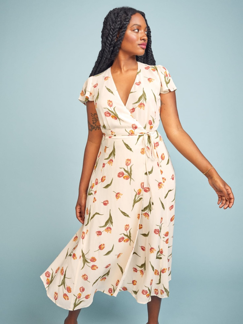 Reformation Brewer Dress in Bianca $152.60 (previously $218)