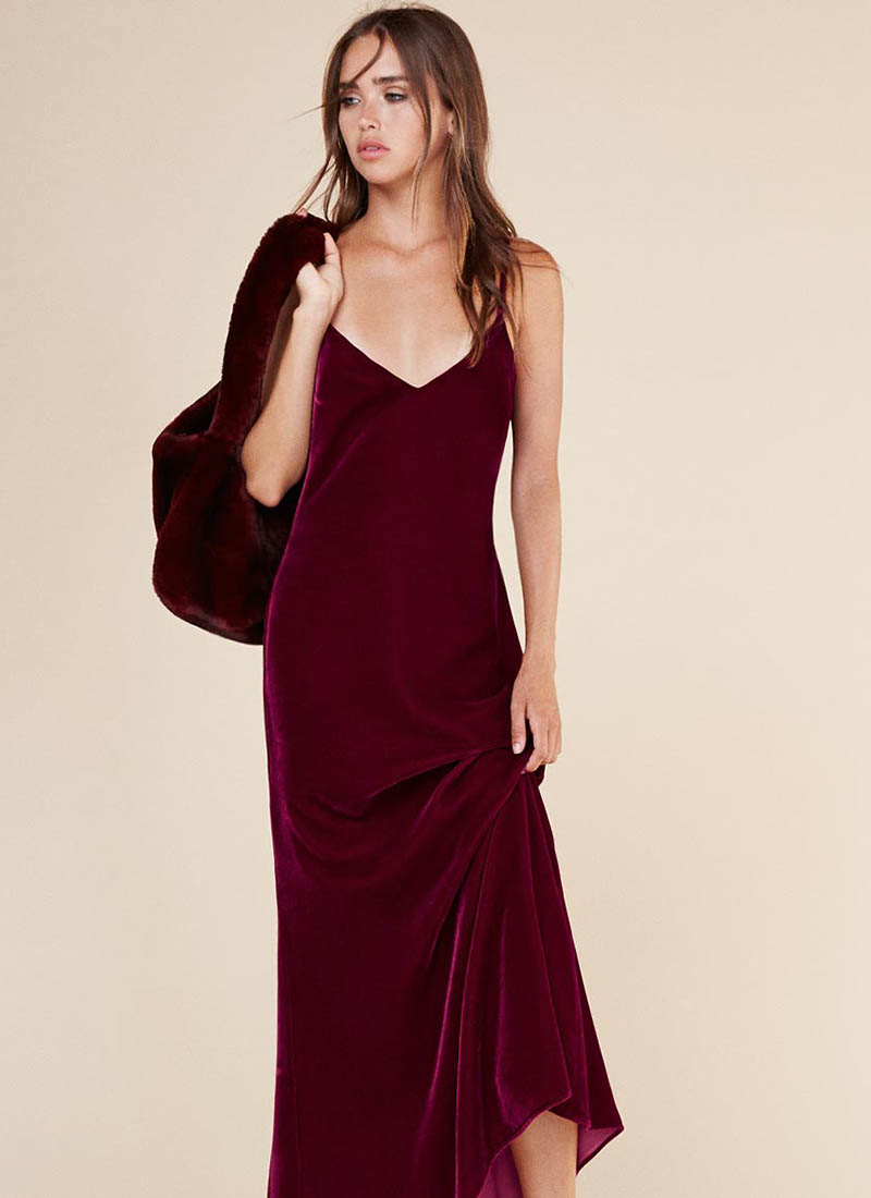 Reformation Chemise Dress in Garnet $124 (previously $248)