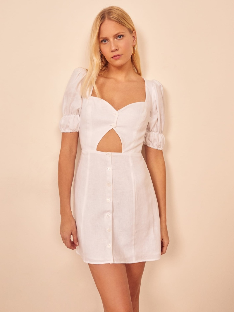 Reformation Clay Dress in White $173.60 (previously $248)