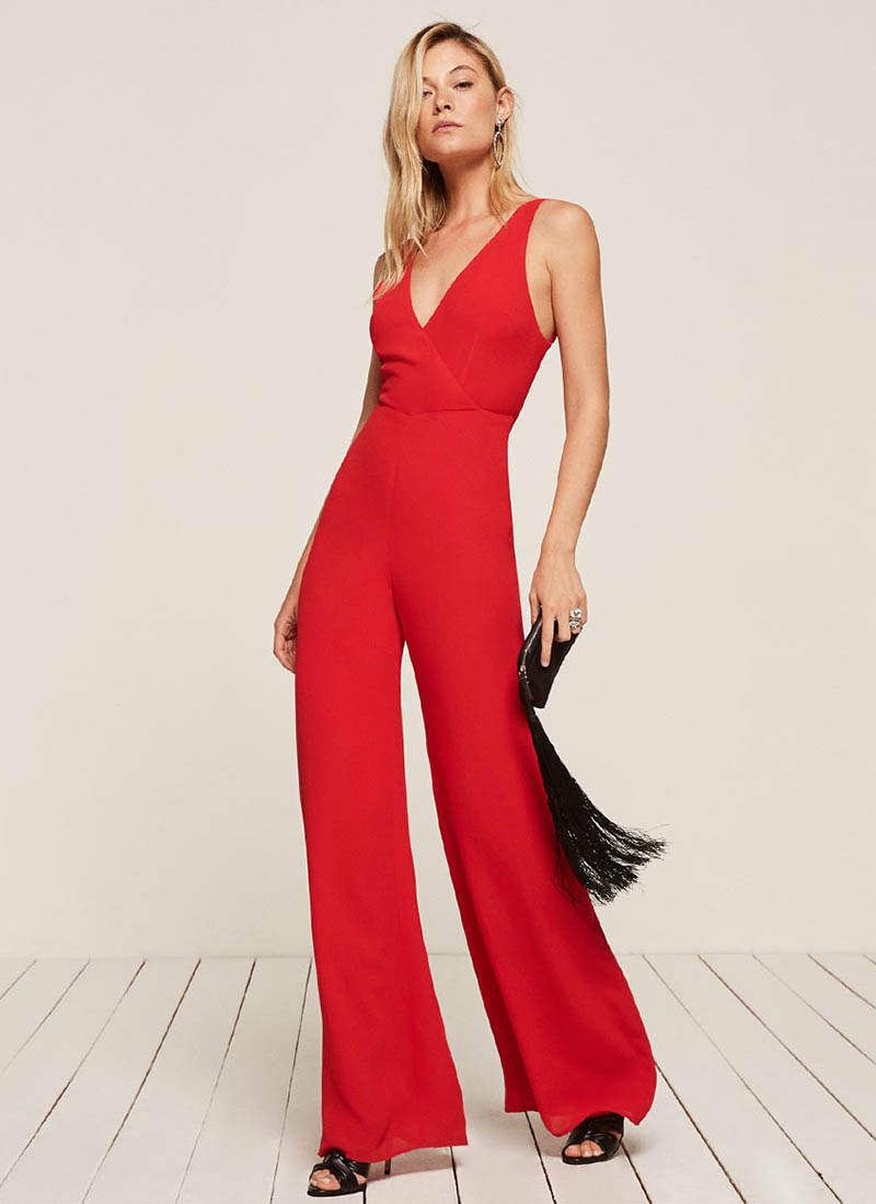 Reformation Darcy Jumpsuit in Cherry $174 (previously $248)