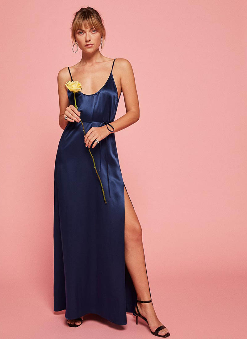 Reformation Iris Dress in Royal $195 (previously $278)