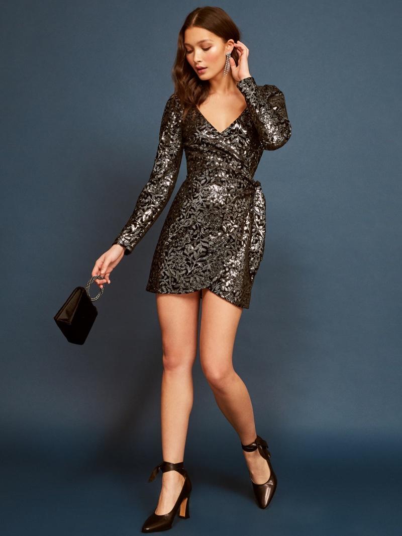 Reformation Ivy Dress in Avalon $218