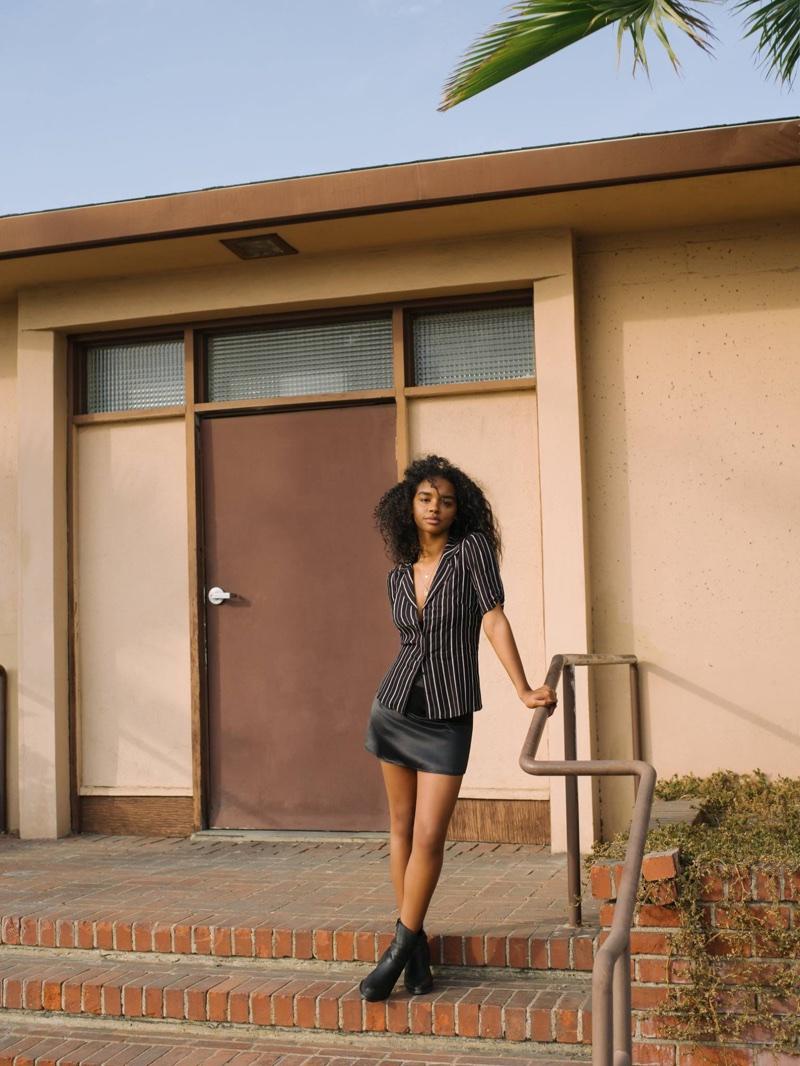 Reformation Imogene Top $128 and Petites Benson Skirt $98