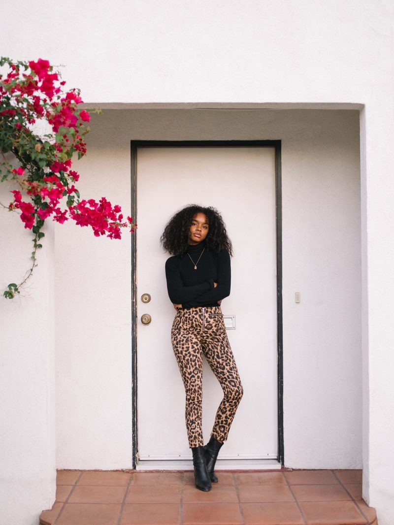 Reformation Petites Braydon Pant in Leopard $178