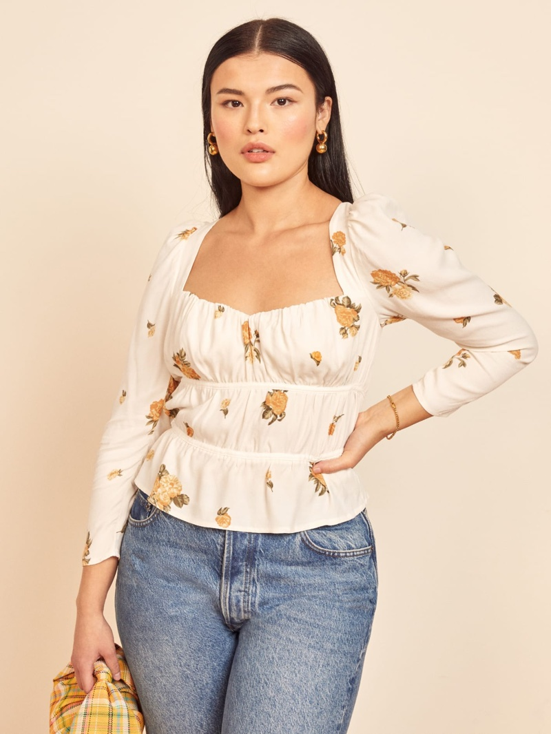 Reformation Plath Top in Constance $103.60 (previously $148)
