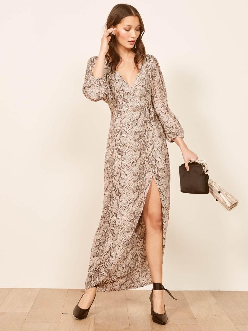 Reformation Primrose Dress in Python $278