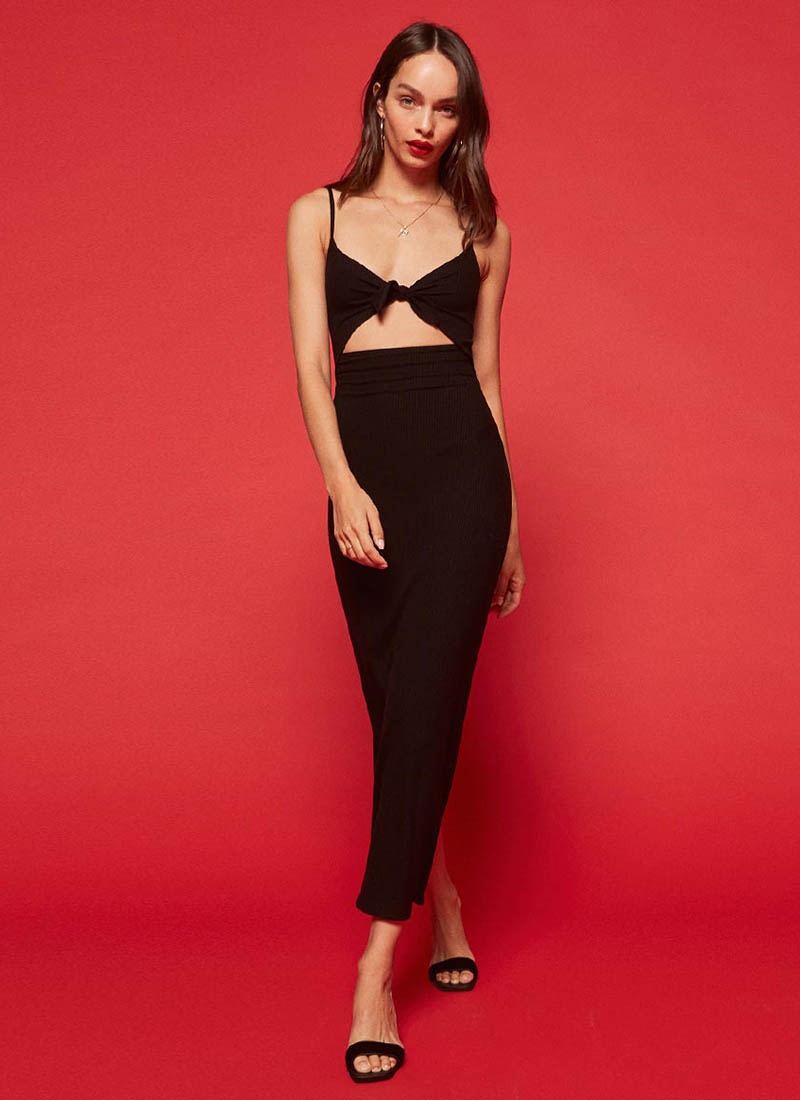 Reformation Rosella Dress Black $104 (previously $148)