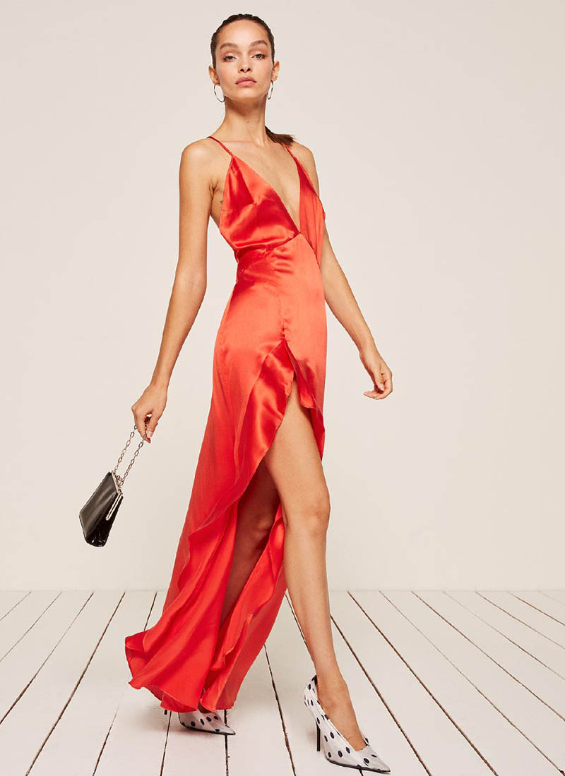 Reformation Salsa Dress in Fruit Punch $248