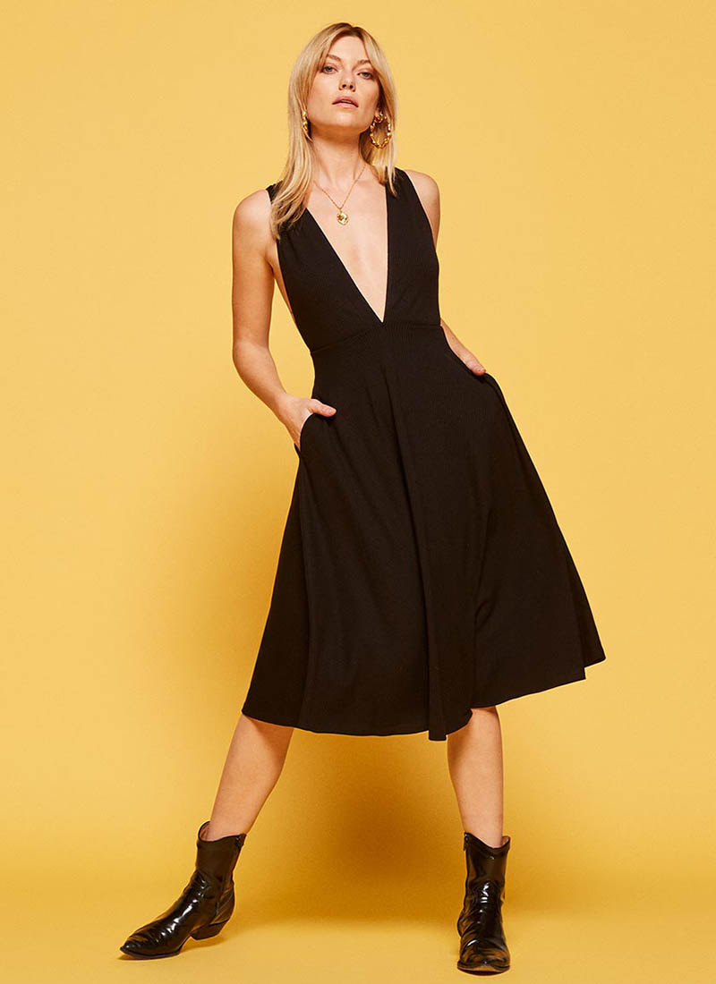 Reformation Thyme Dress in Black $118