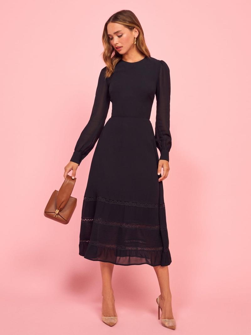 Reformation Valerie Dress in Black $194.60 (previously $278)