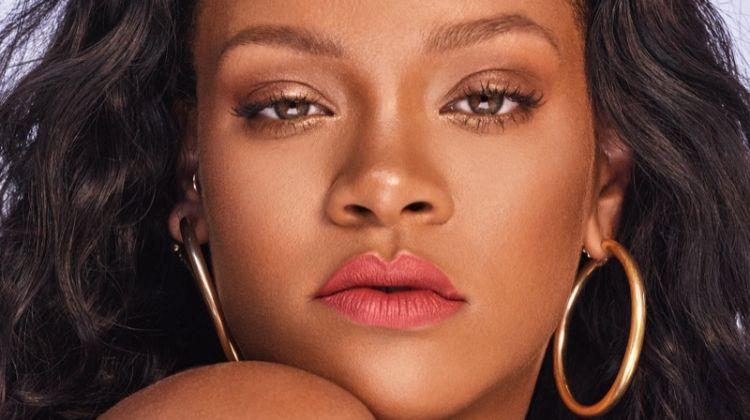 Rihanna models Fenty Beauty Mattemoiselle lipstick in Spanked