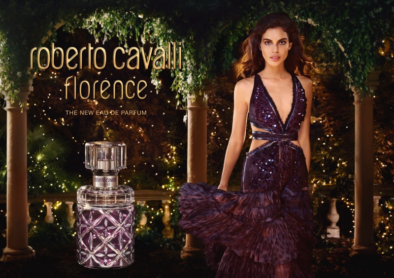 Shlomit Malka fronts Roberto Cavalli Florence perfume campaign