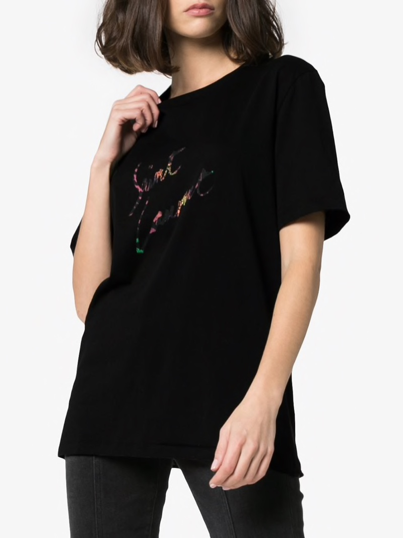 Saint Laurent Crew Neck Signature T-Shirt $286