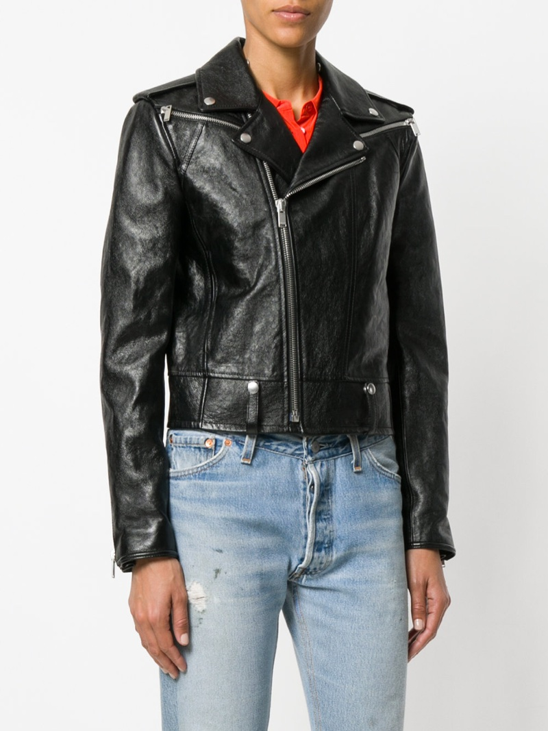 Saint Laurent Zipped Biker Jacket $5,350