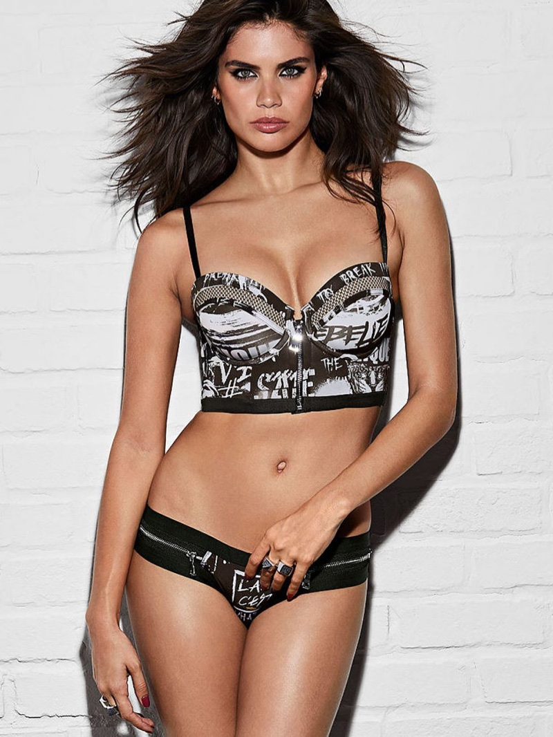 Sara Sampaio models Victoria's Secret x Balmain lingerie collaboration