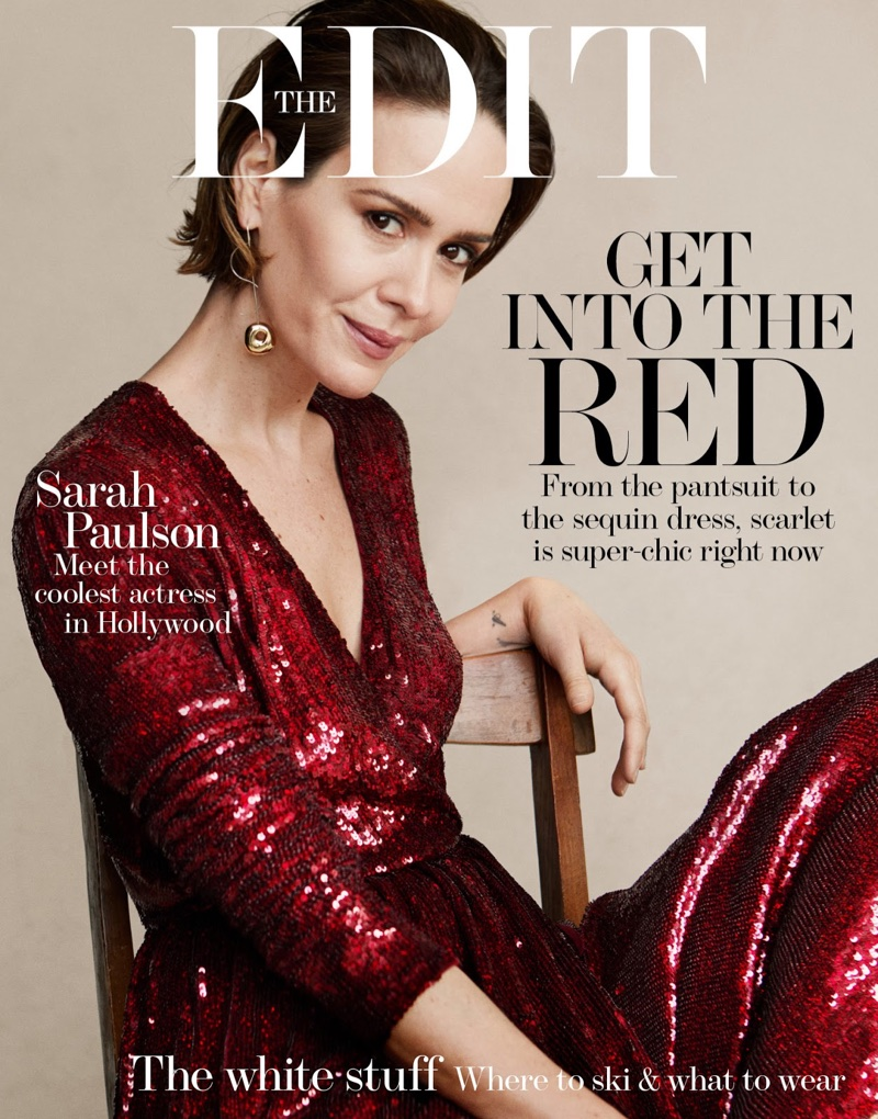 Sarah Paulson on The Edit December 7th, 2017 Cover