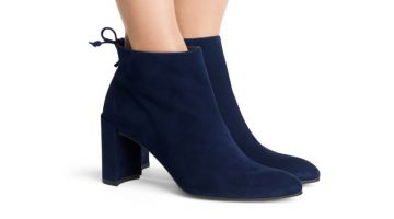 Stuart Weitzman Lofty Bootie in Blue $375 (previously $535)