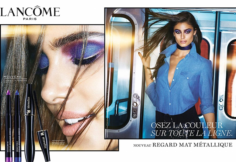 Taylor Hill appears in Lancome mascara campaign